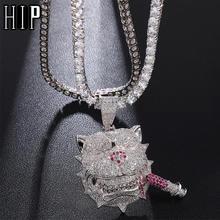 Мужское ожерелье в стиле хип хоп с фианитами