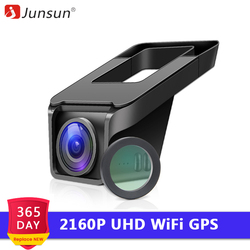 Junsun S695 4K WiFi Auto DVR Kamera NTK 96670 2160P Dashcam Video Recorder Registrator GPS Tracking Nacht Version parkplatz Monitor