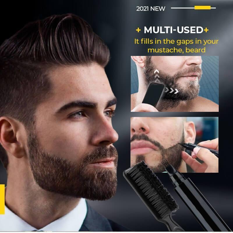 4 Points Multi-Used Pen Liquid Beard Eyebrow Pencil Precise Brow Definer Long Lasting Waterproof Blonde Brown Eye Brow Makeup