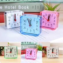 Reloj despertador de cama cuadrada fina Vintage, mesa portátil para el hogar, regalo creativo