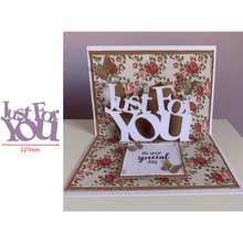 Pop Up  Just For You Word Popular Letters Metal Cutting Dies Scrapbooking Album Paper DIY Cards Crafts Embossing New 2019