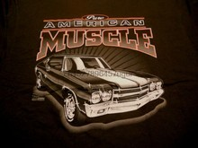 1970 Chevrolet Chevelle T-Shirt Pure American Muscle Car Chevy SS Tee 70(China)