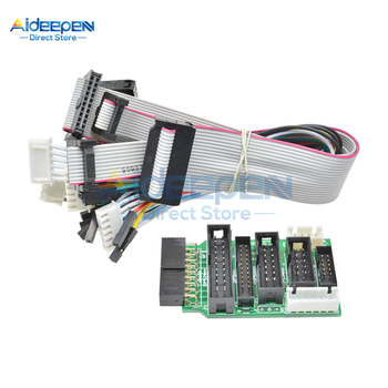 Emulator V8 JTAG Adapter Converter For J-Link With 8Pcs 4 Pin 6 Pin 10 Pin 20 Pin Grey Flat Ribbon Data Cable Dupont Wire image