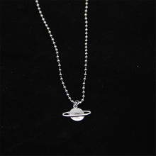 fashion steampunk stainless steel necklace Saturn planet Pendants beads Mens Womens silver long Jewelry Gift