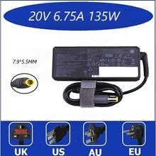 Оригинальный 20V 6.75A 135W Замена адаптера переменного тока питания для ноутбука Зарядное устройство для Lenovo ThinkPad T520 T520i T530 W520 W530 45N0058 45N0055 45N0059