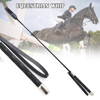 Hot Riding Crop Horse Whip PU Leather Horsewhips Lightweight Riding Whips Lash  Toy DO2