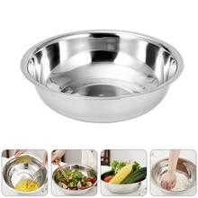 1pc Stainless Steel Basin Salad Mixing Bowl Vegetable Washing Pot Tableware