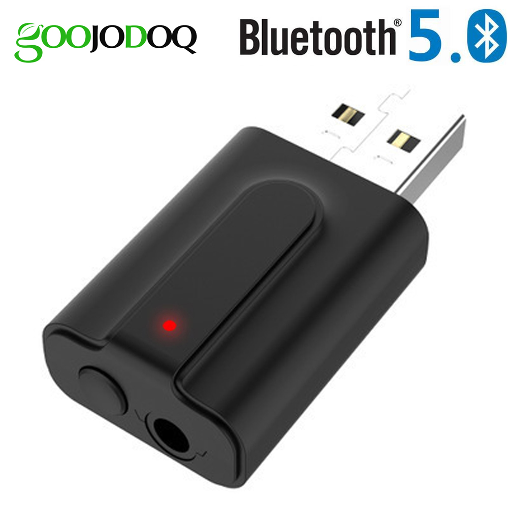 Bluetooth Audio Receiver Transmitter Bluetooth 5.0 Stereo Music 3.5mm AUX Jack 2-in-1 USB Wireless Receiver Adapter For TV PC
