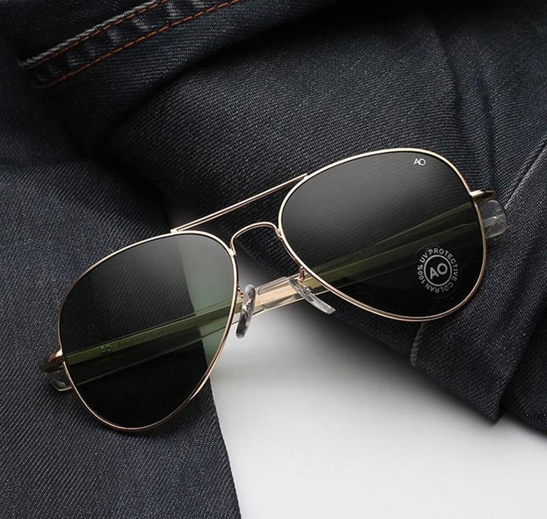 Jackjad óculos de sol, masculino, estilo aviador, militar, do exército, macartrô, lentes americanas|Óculos de sol|   -