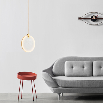 Luces colgantes postmodernas de lujo dormitorio restaurante personalidad creativa iluminación nórdica barra redonda modelo habitación luces colgantes