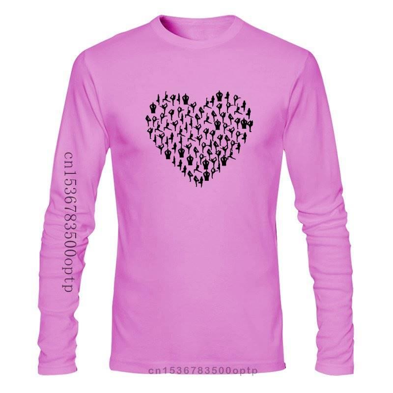 HEART FROM YOGAER POSITIONS DESIGN WOMENS/MENS T SHIRT LOVE MEDITATE MEDITATION GIFT T Shirt Cotton Men Short Sleeve Tee Shirts