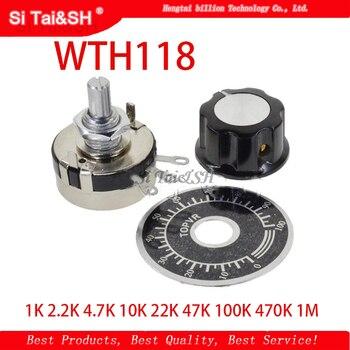 1 набор деталей для DIY WTH118, 2 Вт, 1 А, потенциометр, 1 К, 2,2 К, 4,7 к, 10 к, 22 к, 47 к, 100 к, 470 к, 1 м