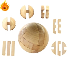 New Wooden Intelligence Toy Chinese Brain Teaser Game 3D IQ Puzzle for Kids Adults