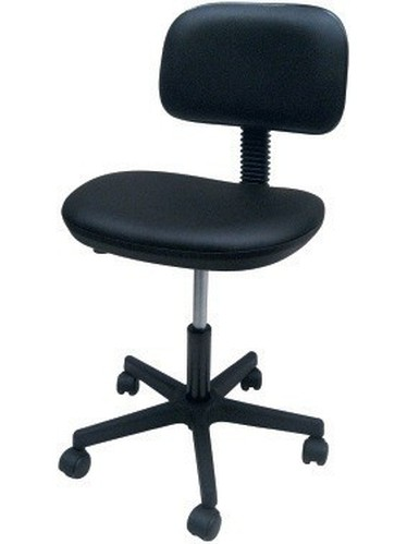 Stool WORK 9, Gas, Upholstered Similpiel Black Or White