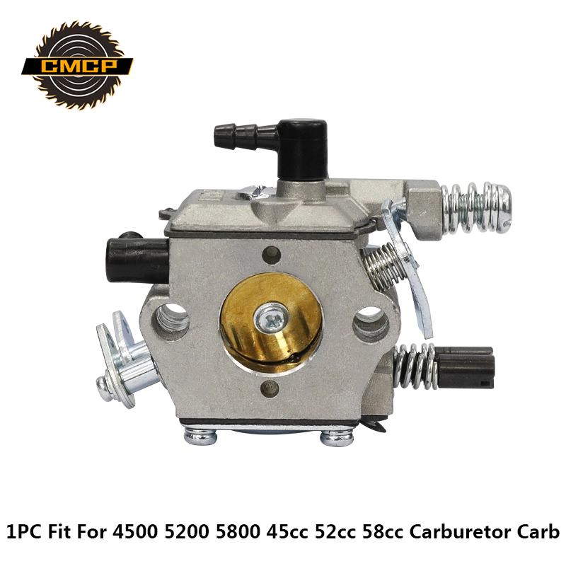 Gasoline Chainsaw Carburetor Carb Brush Cutter Carburetor Fit KOMATSU 4500 5200 5800 45cc 52cc 58cc Chainsaw Spare Parts