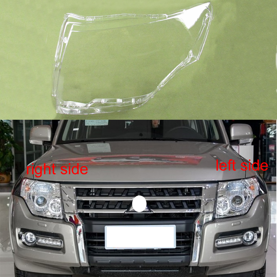 For 2007-2018 Mitsubishi Pajero V87 V93 V97 Lamp Cover Headlamp Cover Shell Transparent Lampshade Headlight Cover Lens Glass
