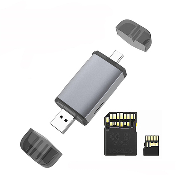 Card Reader USB3.1 Type-C USB Card Reader UHS-II SD4.0 TF Card Reader Multifunction Support for SD TF SDHC USB Card Reader фото
