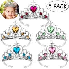 Couvre-chef de princesse couronne, 5 pièces, accessoires de fête, coiffe pour bébés et enfants