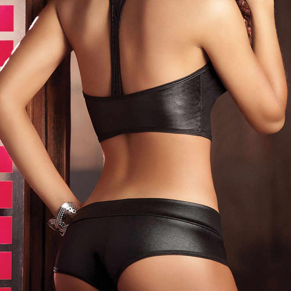 Telotuny Nữ Lót Dù 2 Bộ Gợi Cảm Băng Clubwear Vũ Nữ Thoát Y Bộ Đồ Lót Ren Áo Ngực Nữ Lót Dù Nữ 1202