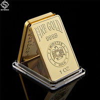 Replica Gold Bar 1 Oz 9999 Eagles Block UAE National Emblem Rose Pattern Collection Gifts