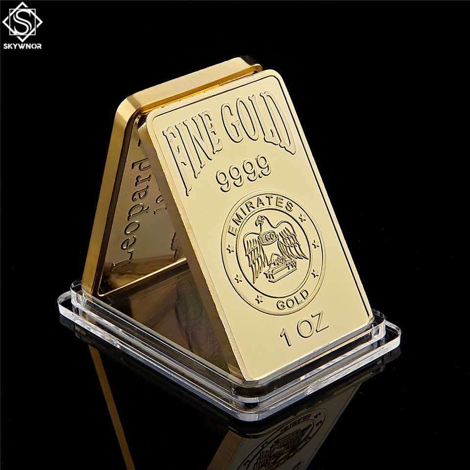 Replik Gold Bar 1 Unzen 9999 Eagles Block UAE Nationalen Emblem Rose Muster Sammlung Geschenke