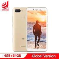 """Original Global Version Xiaomi Redmi 6 4GB 64GB Smartphone Helio P22 Octa Core CPU 12MP+5MP Dual Cameras 5.45"""" 18:9 Full Screen"""