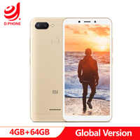 """Originale Globale Versione Xiaomi Redmi 6 4 GB 64 GB Smartphone Helio P22 Octa Core CPU 12MP + 5MP Dual camera 5.45 """"18:9 Schermo Intero"""