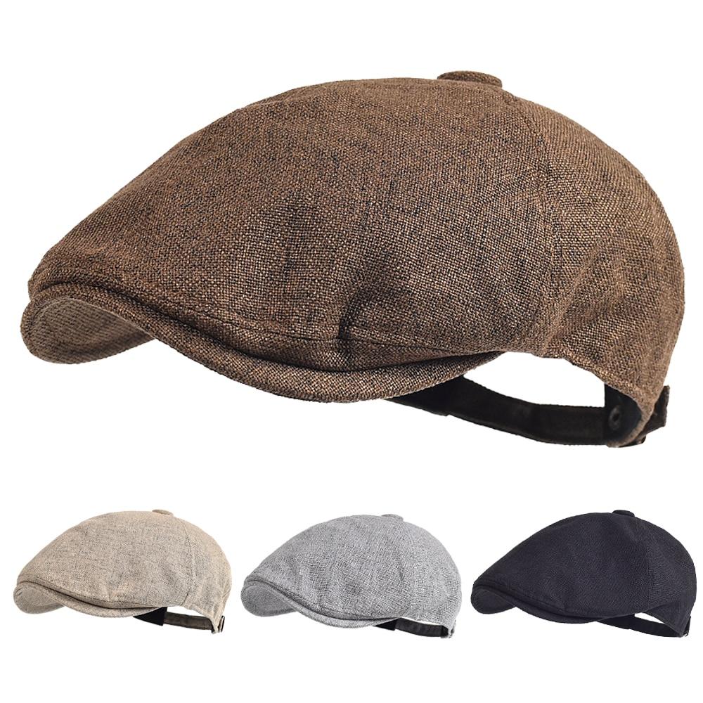 Мужские летние береты, уличная дышащая кепка газетчика, весенние плоские шапки, однотонные шапки «утиный нос», винтажный берет гатсби, женс...