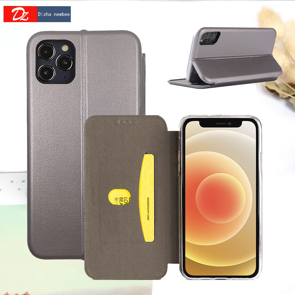 Luxury Slim Leather Cover For iPhone 11 12 Mini Pro XR XS Max X 6 6s 7 8 Plus 5 5s SE 2020 Wallet Card Slots Anti-Fall Flip Case