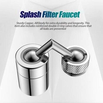 720°Universal Splash Filter Faucet Spray Head Anti Splash Filter Faucet Children Movable Kitchen Tap Water Saving Nozzle Sprayer - Splash Filter