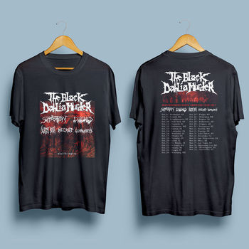 The Black Dahlia Murder Death Metal Band Tour 2018 Black T Shirt S 4Xl 015596