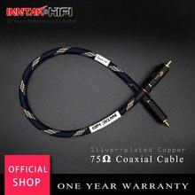 1 pces 75 ohms prata-chapeado cobre profissional hd digital cabo coaxial auto-travamento rca para rca cabo de áudio para dac tv/0.2 m-5 m