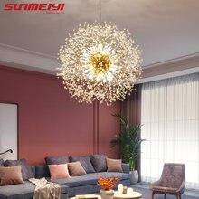 Креативные светодиодные подвесные светильники хромированная