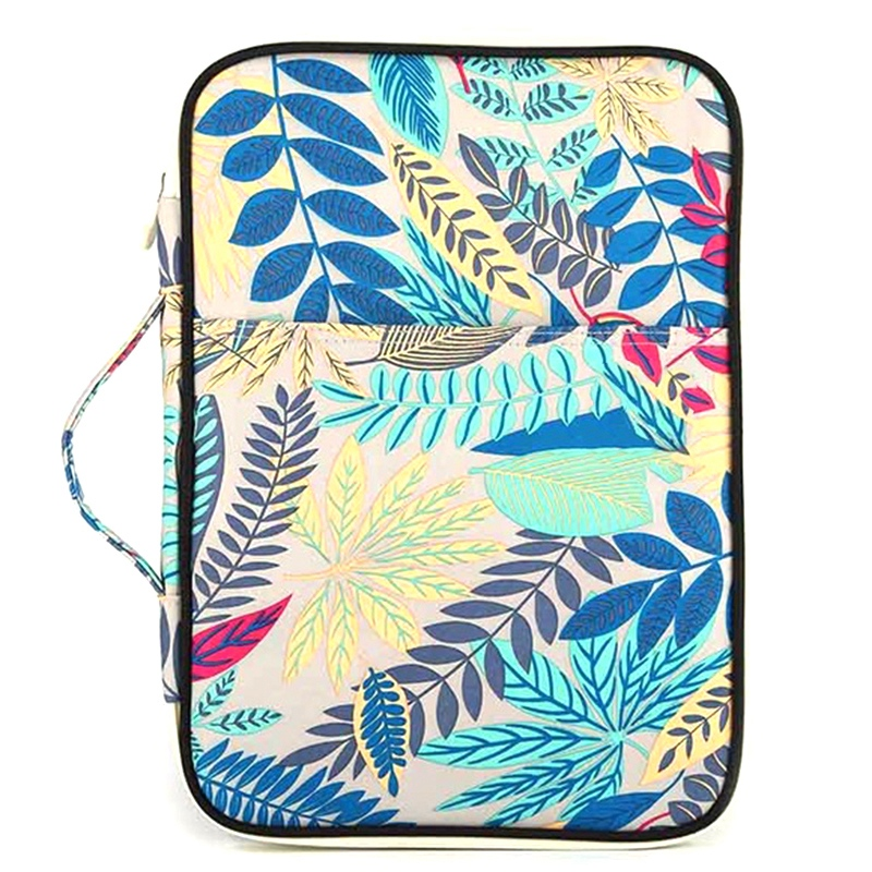 Gray Cyan Folder Multifunction A4 Bag Storage Bag Portable Tablet File Product Waterproof Nylon Storage Bag File Notebook Pen Co