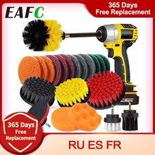 22 Pçs/set Broca Escova Scrub Pads & Esponja Escova De Lavagem de Energia com Long Attachment 22pcs Limpa para o Carro Para Casa Cozinha Casa de Banho