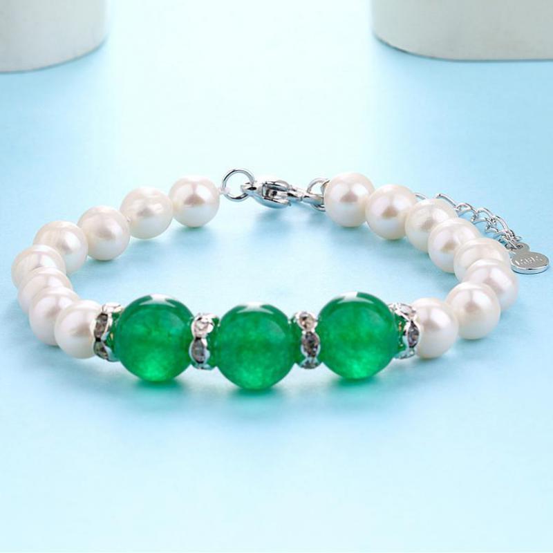 Xuanpai Bracelet de dame de perle naturelle, accessoires de Bracelet d'agate authentiques européens et américains ventes directes d'usine en gros