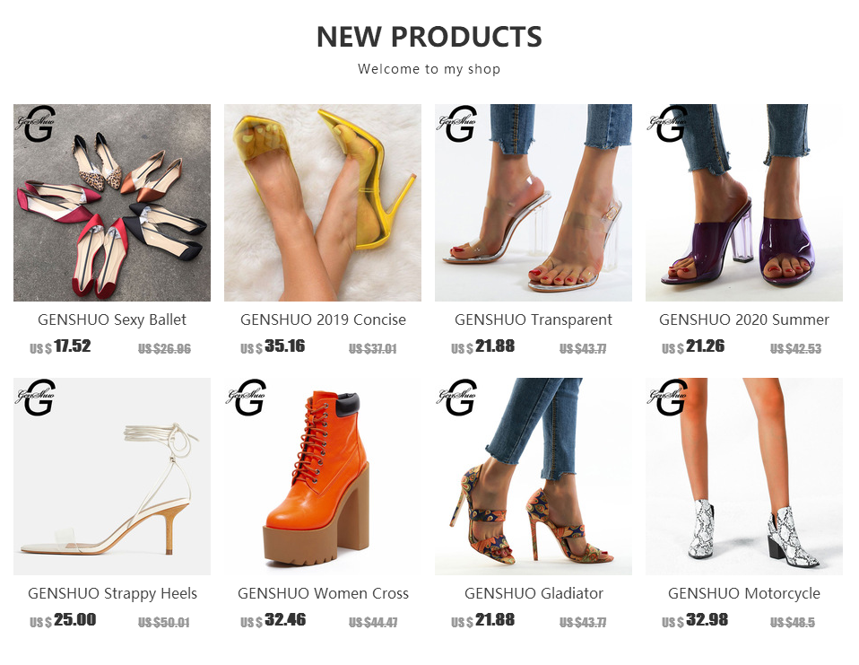 H1c5f65f7e14642e49812c8c542c2ac3ew GENSHUO 2019 Ankle Strap Heels Women Sandals Summer Shoes Women Open Toe Chunky High Heels Party Dress Sandals Big Size 42