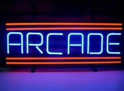 Пользовательские аркадные неоновый светильник красного стекла знак пивной бар