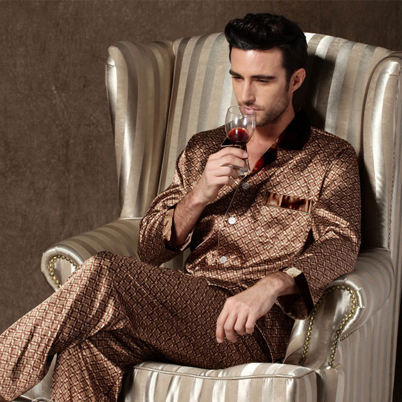 Pyjama de style à manches longues pour homme