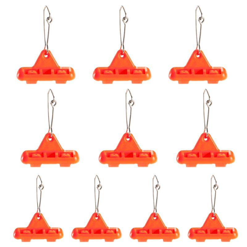 10 Pcs/pack Hook Zipper Slider Beads Rotation Triangle Balance Swivel Fishing Tackle Multi-function Pin New Fishing Gear Accesso