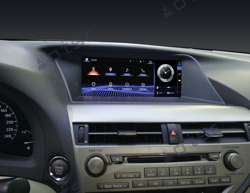 AOTSR Car Radio <font><b>Android</b></font> 9 For <font><b>Lexus</b></font> RX270 RX350 RX450 2009 - 2014 Auto GPS Navigation DSP Multimedia Player 10.25