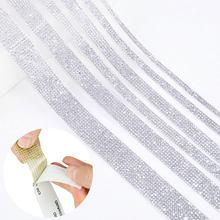 Ruban à strass transparent, 1 mètre, ruban à Motif, couture sur chaîne, pour robes, vêtements, chaussures