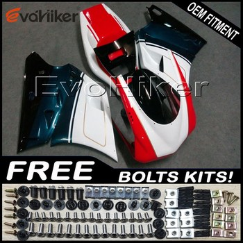Custom fairing for 748 916 996 1996-2002 ABS plastic motor panels kit white black+gifts