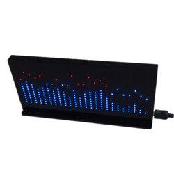 DIY Licht Cube Kit AS1424 Muziek Spectrum LED Display Audio Versterker Modificatie Rhythm Lamp-Eindproduct Zwart