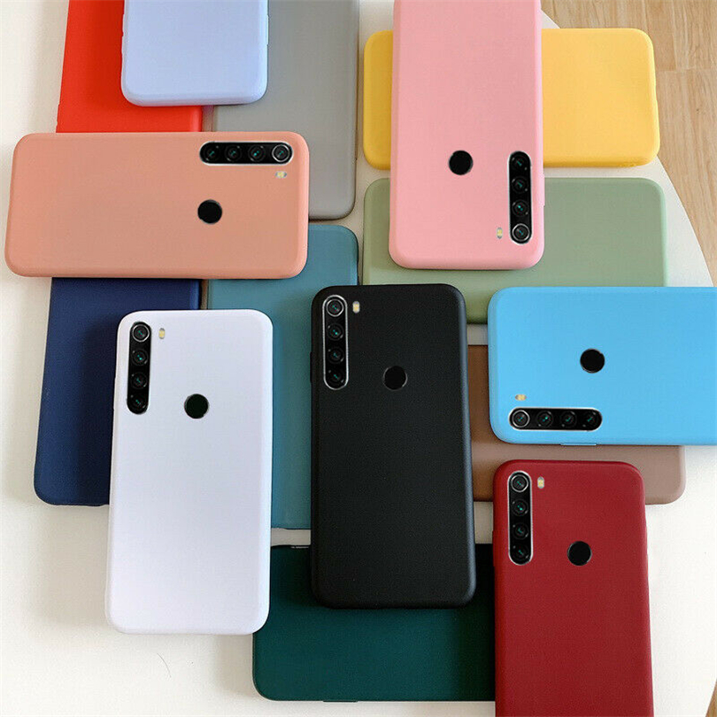 Matte Plain Shockproof Slim Soft TPU Case Cover For Xiaomi Redmi 8 8A Note 5 6 7 8 Pro Lightweight Anti-Fingerprint Phone Case