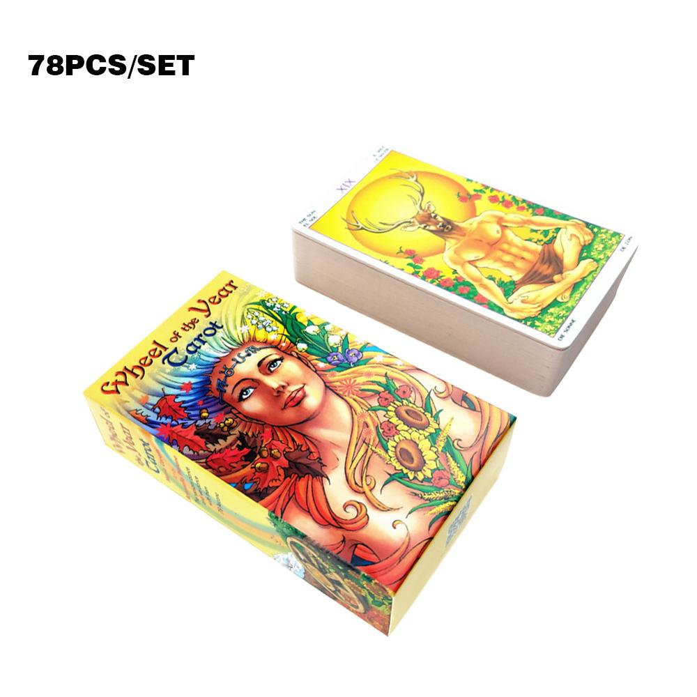 78pcs Tarot Card Deck Playing Card Board Game Wheel Of The Year Read Fate Tarot Card For Kids Adults