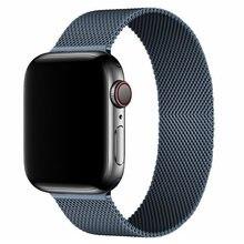 Laço milanês para apple relógio banda 44mm 40mm iwatch banda 38mm 42mm aço inoxidável pulseira apple relógio pulseira série 3 4 5 6 se