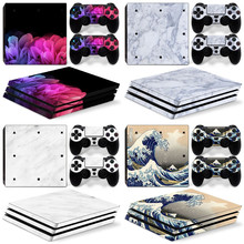 for PS4 PRO skin man sticker Camo GAME ACCESSORIES VINYL DECAL STICKER SKIN FOR PS4 PRO CONSOLE pink color P5
