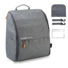 Модная простая сумка для подгузников INSULAR, рюкзак для мам, детские сумки для мам, пап с ремешками для коляски, пеленальные подушки, влажная сумка
