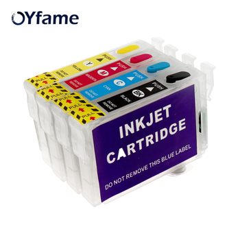OYfame T1281 refillable Ink Cartridge For Epson S22 SX125 SX130 SX235W SX420W SX440W SX430W SX425W SX435W SX438 SX445W Printer 29xl t1291t2992 t2993 t1294 ink cartridge full ink for stylus sx235w sx230 sx420w sx425w sx430w sx435w sx440w sx445w printer